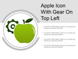 Apple Icon With Gear On Top Left