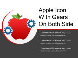 Apple Icon With Gears On Both Side