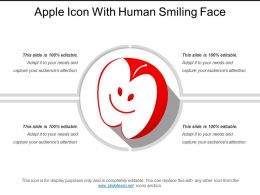 Apple Icon With Human Smiling Face