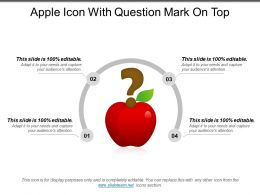 Apple Icon With Question Mark On Top