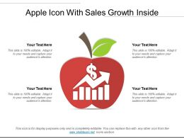 Apple Icon With Sales Growth Inside
