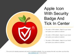 Apple Icon With Security Badge And Tick In Center