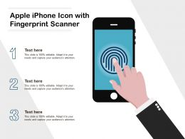 Apple Iphone Icon With Fingerprint Scanner