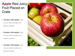 Apple Red Juicy Fruit Placed On Crate