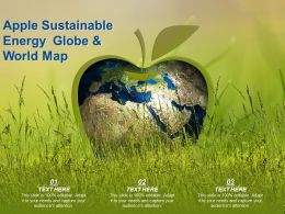 Apple Sustainable Energy Globe And World Map