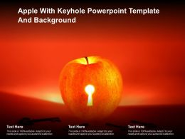 Apple With Keyhole Powerpoint Template And Background