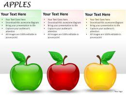 Apples Powerpoint Presentation Slides