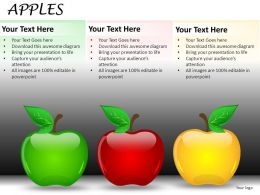 Apples Powerpoint Presentation Slides DB