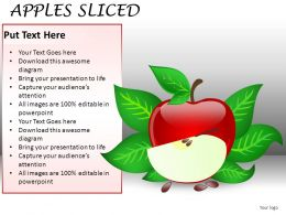 Apples Sliced Powerpoint Presentation Slides DB