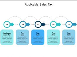 Applicable Sales Tax Ppt Powerpoint Presentation Icon Example Topics Cpb