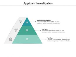 Applicant Investigation Ppt Powerpoint Presentation Gallery Graphics Tutorials Cpb