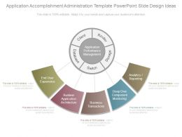 Application Accomplishment Administration Template Powerpoint Slide Design Ideas