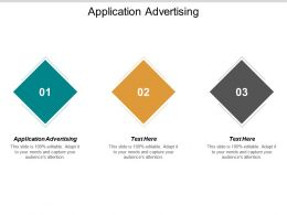 Application Advertising Ppt Powerpoint Presentation Icon Picture Cpb