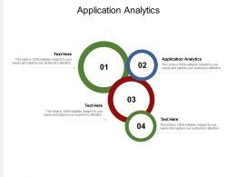 Application Analytics Ppt Powerpoint Presentation Model Format Ideas Cpb