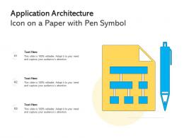 Application Architecture Icon On A Paper With Pen Symbol