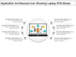 Application Architecture Icon Showing Laptop With Boxes