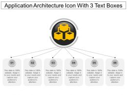Application Architecture Icon With 3 Text Boxes