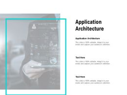 Application Architecture Ppt Powerpoint Presentation Icon Picture Cpb