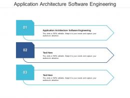 Application Architecture Software Engineering Ppt Powerpoint Presentation Slides Display Cpb