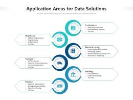 Application Areas For Data Solutions
