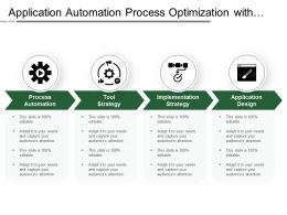 Application Automation Process Optimization With Boxes And Icons