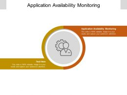 Application Availability Monitoring Ppt Powerpoint Presentation Portfolio Design Inspiration Cpb