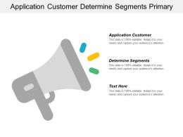 Application Customer Determine Segments Primary Activities Suggested Concept Cpb