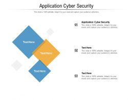 Application Cyber Security Ppt Powerpoint Presentation Show Background Images Cpb