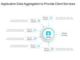Application Data Aggregation To Provide Client Services