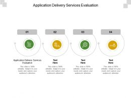 Application Delivery Services Evaluation Ppt Powerpoint Presentation Portfolio Cpb