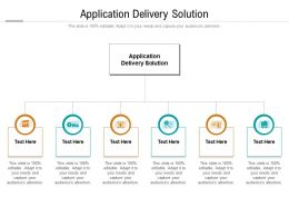 Application Delivery Solution Ppt Powerpoint Presentation Model Examples Cpb