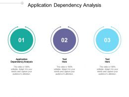 Application Dependency Analysis Ppt Powerpoint Presentation Infographics Visuals Cpb