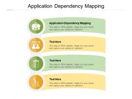 Application Dependency Mapping Ppt Powerpoint Presentation Icon Rules Cpb