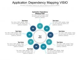 Application Dependency Mapping VISIO Ppt Powerpoint Presentation Layouts Information Cpb