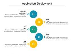 Application Deployment Ppt Powerpoint Presentation Visual Aids Deck Cpb