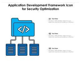 Application Development Framework Icon For Security Optimization