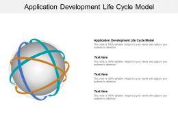 Application Development Life Cycle Model Ppt Powerpoint Presentation Ideas Portrait Cpb