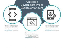 Application Development Phone Settings Arrow Icons