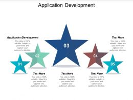 Application Development Ppt Powerpoint Presentation File Tips Cpb