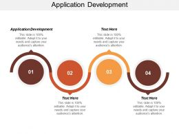 Application Development Ppt Powerpoint Presentation Inspiration Background Images Cpb
