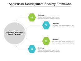Application Development Security Framework Ppt Powerpoint Slides Format Cpb