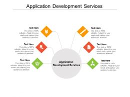 Application Development Services Ppt Powerpoint Presentation Visual Template Cpb