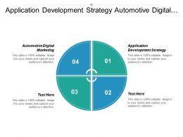 Application Development Strategy Automotive Digital Marketing Media Management Cpb