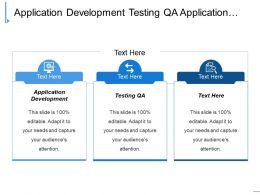 Application Development Testing Qa Application Support Financial Management