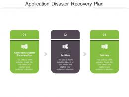 Application Disaster Recovery Plan Ppt Powerpoint Presentation Layouts Examples Cpb