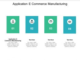 Application E Commerce Manufacturing Ppt Powerpoint Presentation Summary Show Cpb