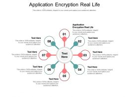 Application Encryption Real Life Ppt Powerpoint Presentation Summary Samples Cpb