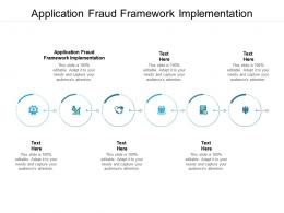 Application Fraud Framework Implementation Ppt Powerpoint Presentation Gallery Show Cpb