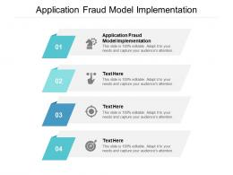 Application Fraud Model Implementation Ppt Powerpoint Presentation Pictures Ideas Cpb