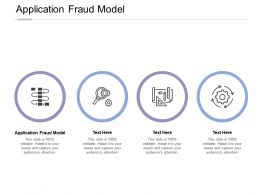 Application Fraud Model Ppt Powerpoint Presentation Pictures Icons Cpb